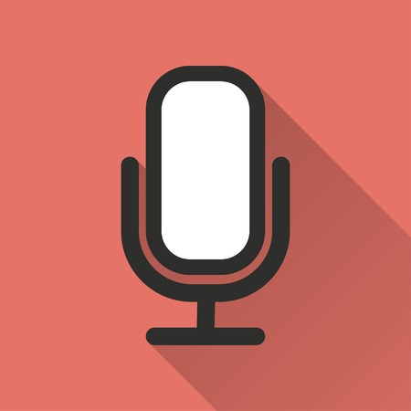 amplification: Microphone    vector icon. Illustration isolated for graphic and web design.
