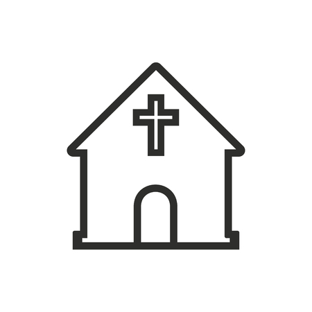 born again: Church   vector icon. Illustration isolated on white  background for graphic and web design.