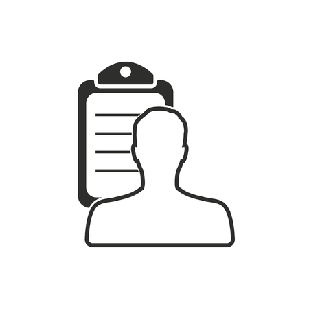 new account: Personal   vector icon. Illustration isolated on white  background for graphic and web design.