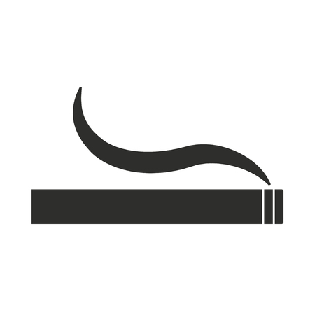 smoldering cigarette: Smoke   vector icon. Illustration isolated on white  background for graphic and web design.