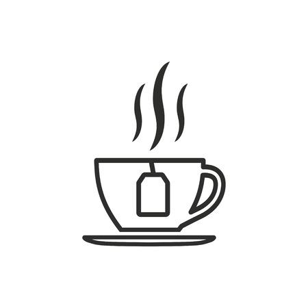 Ikona wektor herbaty. Ilustracja odizolowywająca na białym tle dla grafiki i sieci projekta.