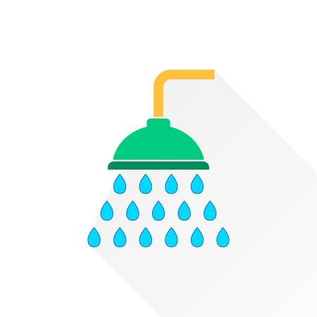 rinse: Shower   vector icon. Illustration isolated on white  background for graphic and web design. Illustration