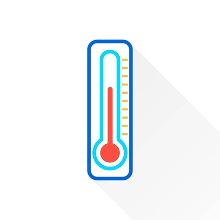 high scale: Thermometer   vector icon. Illustration isolated on white  background for graphic and web design.