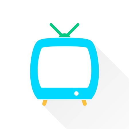 flatscreen: TV   vector icon. Illustration isolated on white  background for graphic and web design. Illustration