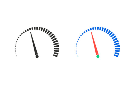 instrument panel: Speedometer    vector icon. Illustration isolated for graphic and web design. Illustration