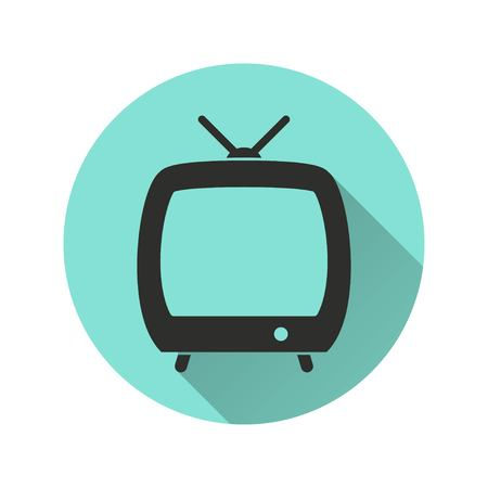 hdtv: TV vector icon. Illustration isolated for graphic and web design.