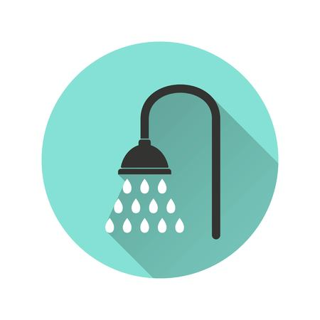 rinse: Shower vector icon. Illustration isolated for graphic and web design.