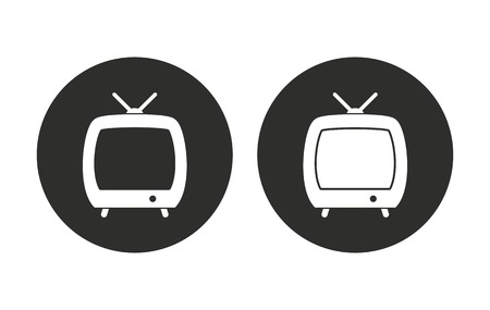 flatscreen: TV vector icon. Illustration isolated for graphic and web design.