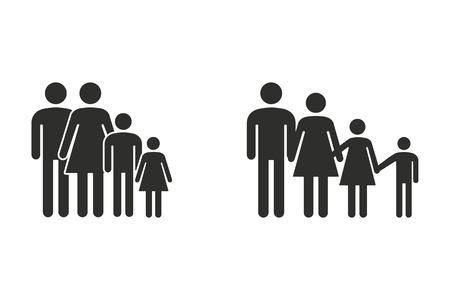 Icono de vector de familia. Ilustración aislada sobre fondo blanco para diseño gráfico y web.