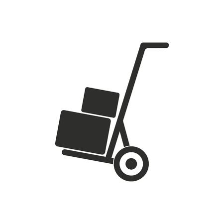 handcart: Handcart vector icon. Illustration isolated on white background for graphic and web design.