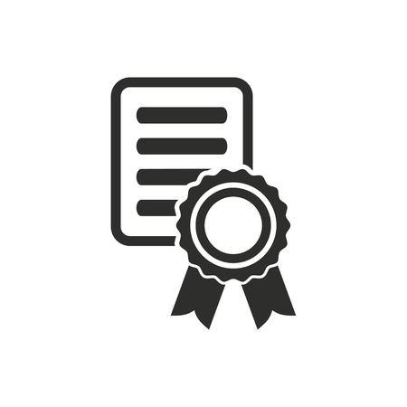 Certificate Vector Icon - Best Clipart Gallery •