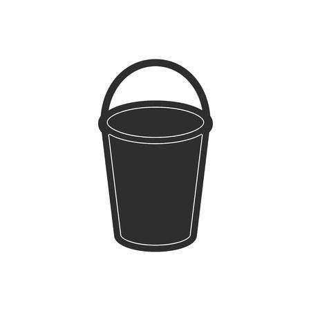 Seau icône vecteur. Illustration isolé sur fond blanc pour la conception graphique et web.