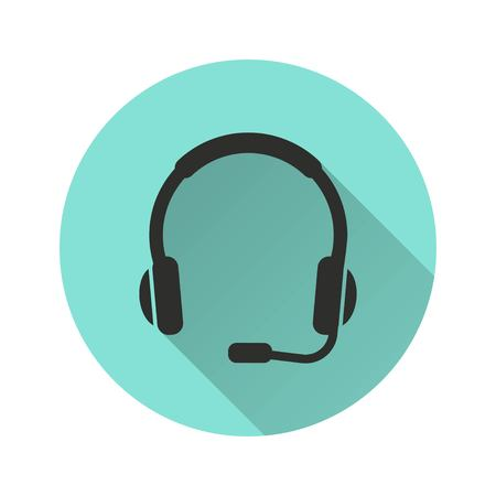 hear business call: Headphone vector icon. Illustration isolated for graphic and web design. Illustration