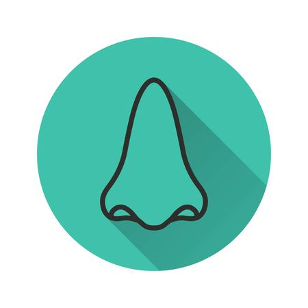 sniff: Nose vector icon. Illustration isolated for graphic and web design.