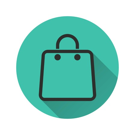 shopping bag vector: Shopping bag vector icon. Illustration isolated for graphic and web design.