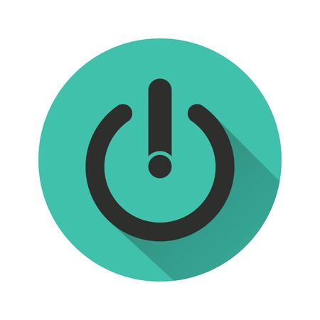 off the record: Start vector icon. Illustration isolated for graphic and web design.