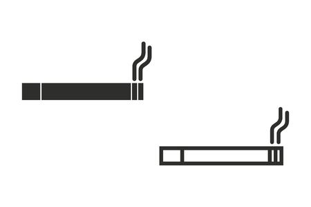 smokers: Smoke vector icon. Illustration isolated on white background for graphic and web design. Illustration