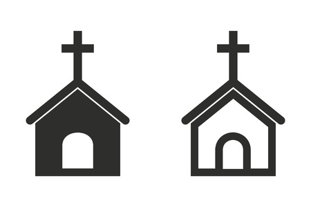 born again: Church vector icon. Illustration isolated on white background for graphic and web design. Illustration