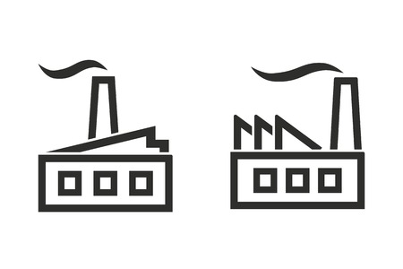 distillery: Factory vector icon. Illustration isolated on white background for graphic and web design.