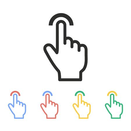 Touch vector icon. Illustration isolated on white background for graphic and web design.