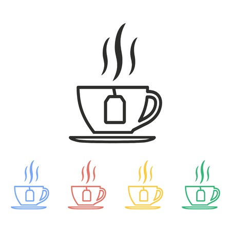 Tea vector icon. Illustration isolated on white background for graphic and web design.