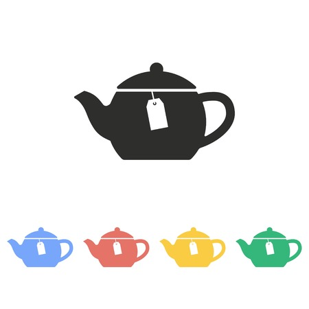 Tea vector icon. Illustration isolated on white background for graphic and web design. Vektorové ilustrace