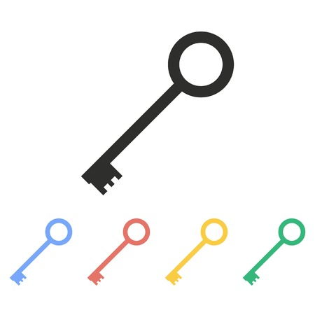 public folder: Key vector icon. Illustration isolated on white background for graphic and web design.
