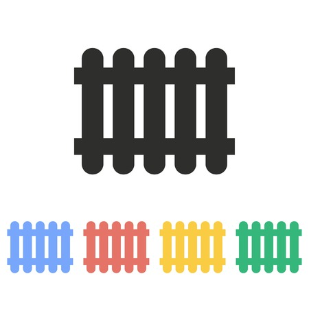 dissociation: Fence vector icon. Illustration isolated on white background for graphic and web design.