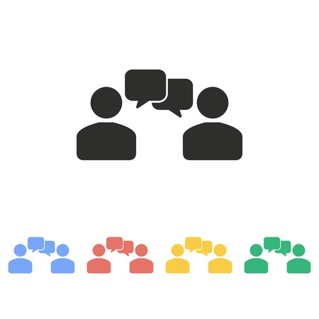 relationships: Human interaction vector icon. Illustration isolated on white background for graphic and web design.