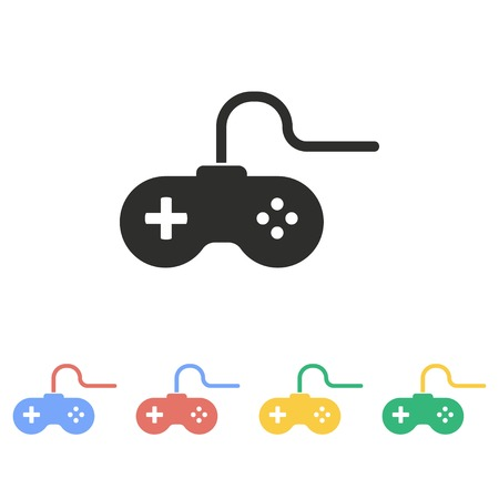 playstation: Game controller vector icon. Illustration isolated on white background for graphic and web design.