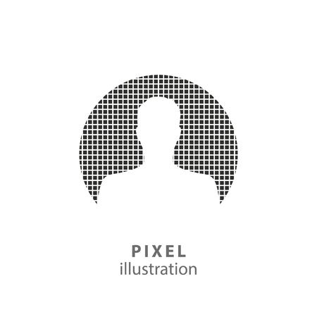 Assistance - pixel icon. Vector Illustration. Design   element. Isolated on white background. It is easy to change to any color.