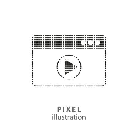 computer art: Browser - pixel icon. Vector Illustration. Design   element. Isolated on white background. It is easy to change to any color.
