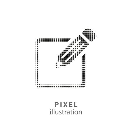 color registration: Registration - pixel icon. Vector Illustration. Design   element. Isolated on white background. It is easy to change to any color.
