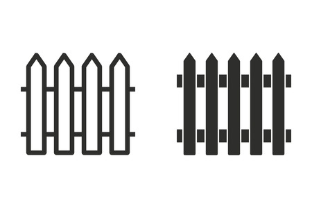 Fence vector icon. Illustration isolated on white background for graphic and web design.