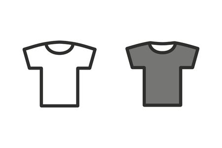 black pictogram: T-shirt vector icon. Illustration isolated on white background for graphic and web design. Illustration