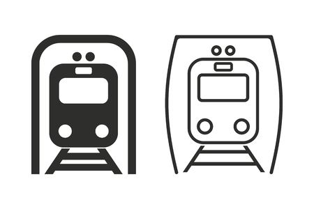 locomotion: Metro vector icon. Illustration isolated on white background for graphic and web design.