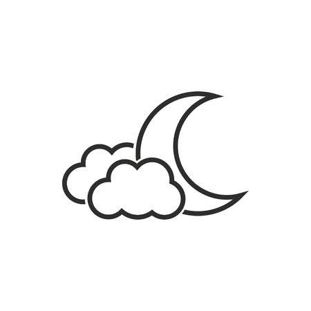 lullaby: Moon star vector icon. Illustration isolated on white background for graphic and web design. Illustration