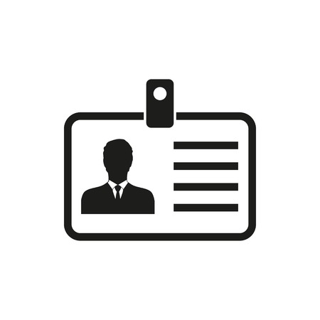 badge holder: Identification card vector icon. Illustration isolated on white background for graphic and web design.