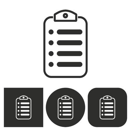 web portal: Menu - black and white icons. Vector illustration. Illustration