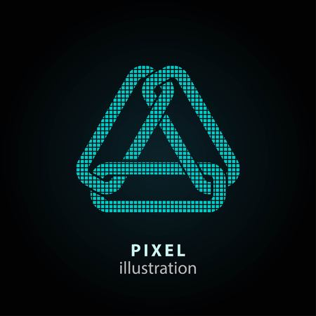 joining the dots: Link - pixel icon. Vector Illustration. Design  element. Isolated on black background. It is easy to change to any color. Illustration