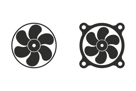 Fan vector icon. Illustration isolated on white background for graphic and web design. Illustration