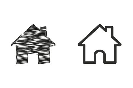 Home vector icon. Illustration isolated on white background for graphic and web design. Illustration