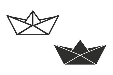 bateau de papier vecteur icône. Illustration isolé sur fond blanc pour la conception graphique et web.