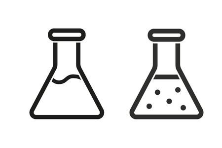 poison symbol: Flask vector icon. Illustration isolated on white background for graphic and web design.