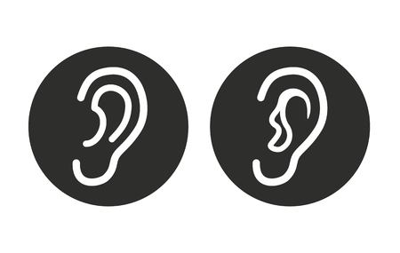 deafness: Ear vector icon. Illustration isolated for graphic and web design. Illustration