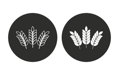 Barley vector icon. Illustration isolated for graphic and web design. Vettoriali