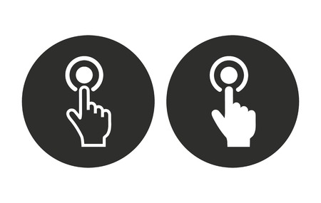 hit tech: Touch vector icon. Illustration isolated for graphic and web design.