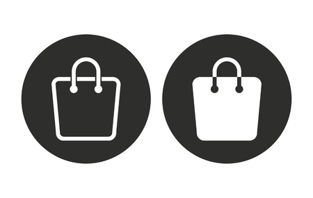 Shopping bag vector icon. Illustration isolated for graphic and web design.