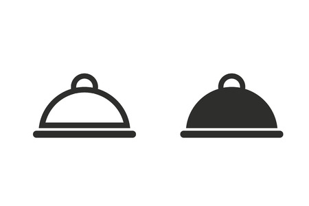 dine: Food cover vector icon. Illustration isolated on white background for graphic and web design. Illustration