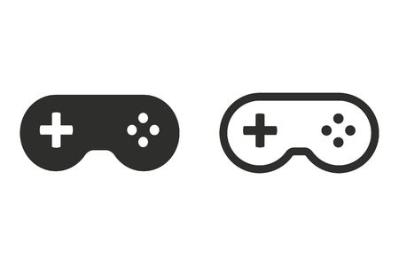 joypad: Game controller vector icon. Illustration isolated on white background for graphic and web design.